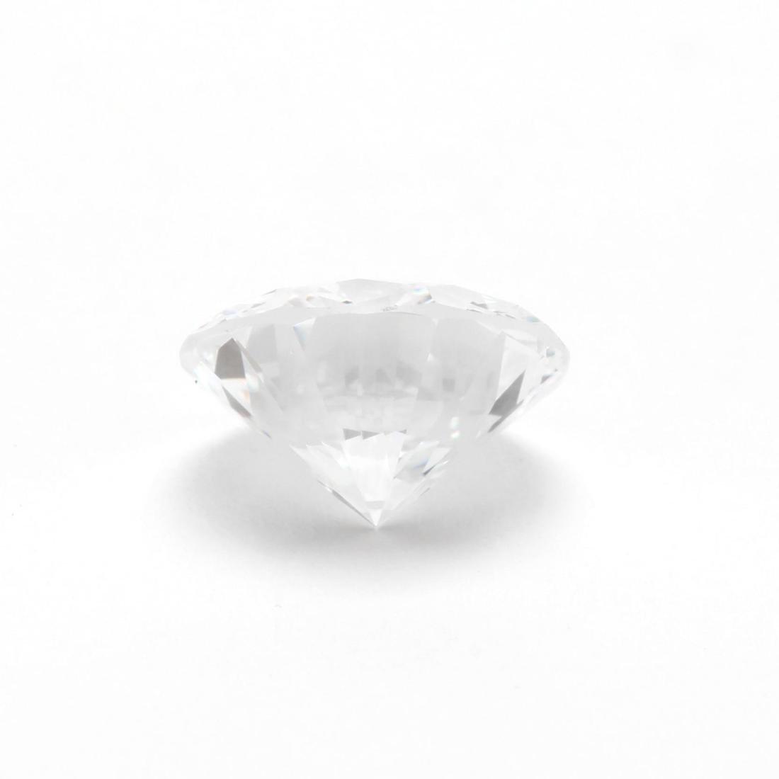 Unmounted Round Brilliant Cut Diamond with Platinum and - 4
