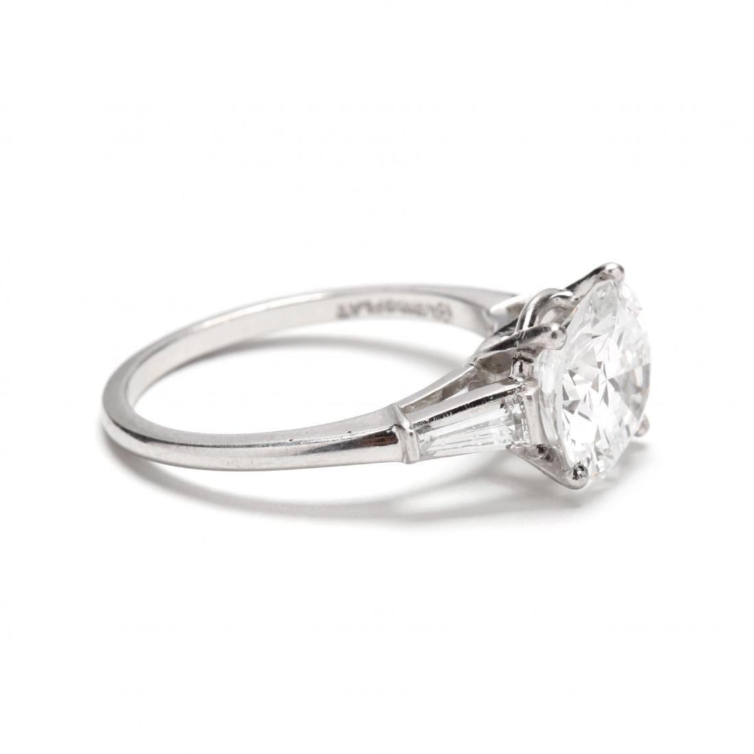 Unmounted Round Brilliant Cut Diamond with Platinum and - 5