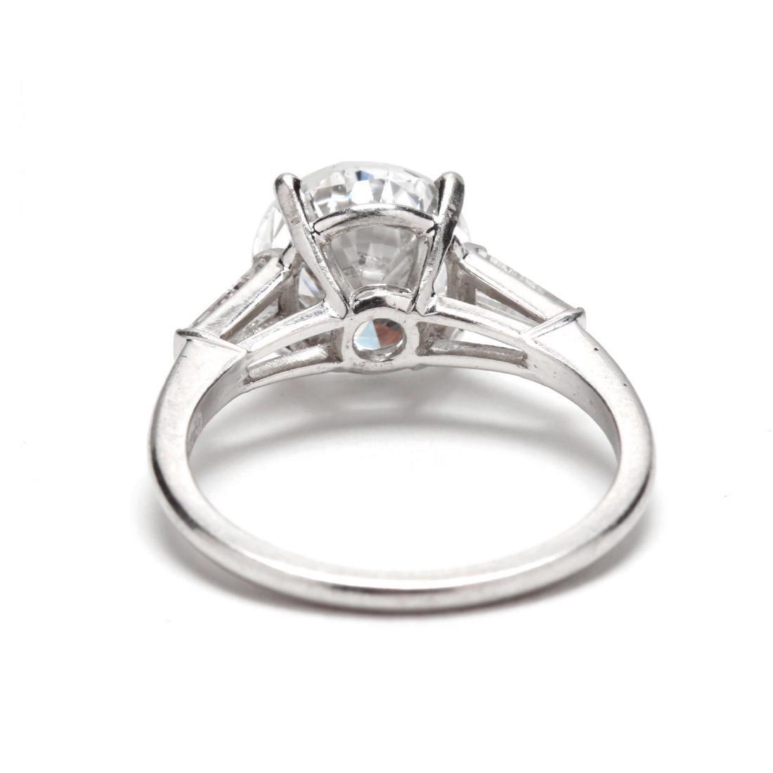 Unmounted Round Brilliant Cut Diamond with Platinum and - 6