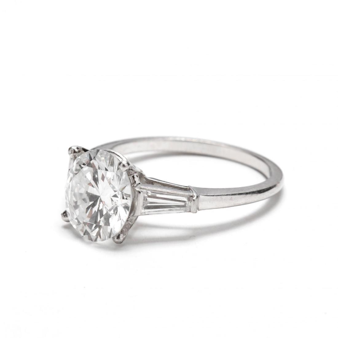 Unmounted Round Brilliant Cut Diamond with Platinum and - 7