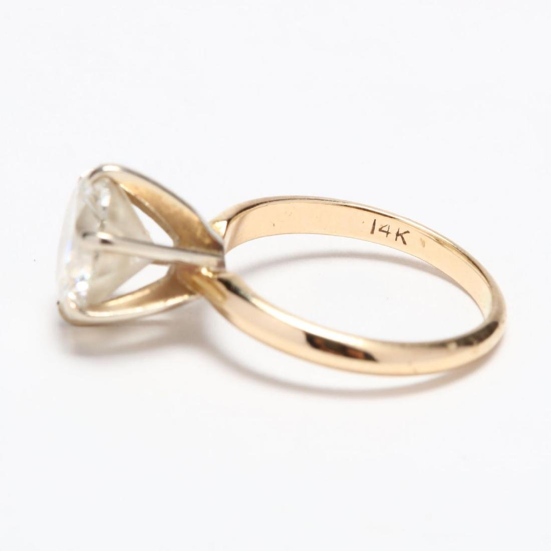Unmounted Round Brilliant Cut Diamond and 14KT Gold - 8