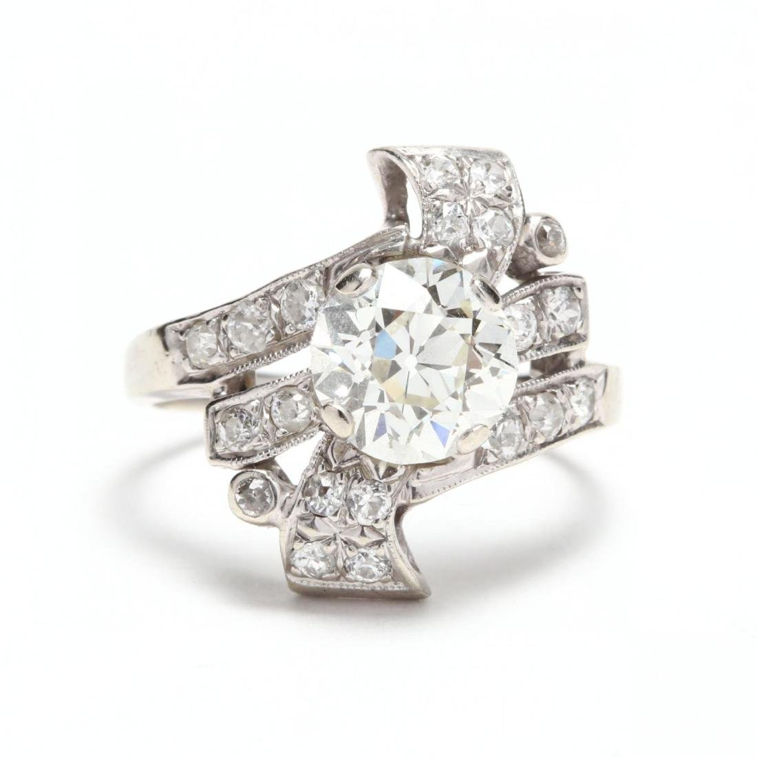 Unmounted Old European Cut Diamond with 14KT White Gold