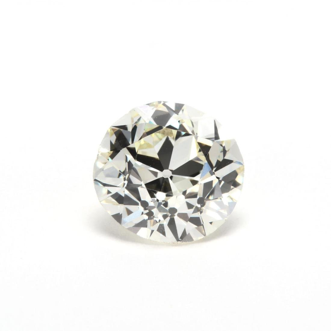 Unmounted Old European Cut Diamond with 14KT White Gold - 2