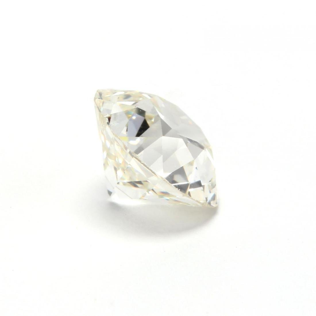 Unmounted Old European Cut Diamond with 14KT White Gold - 3