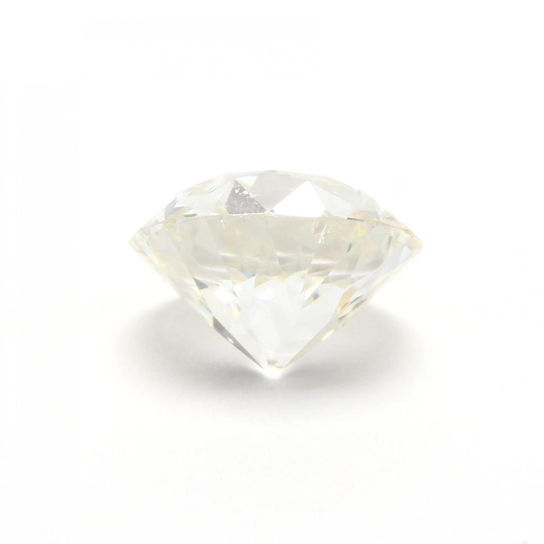 Unmounted Old European Cut Diamond with 14KT White Gold - 4