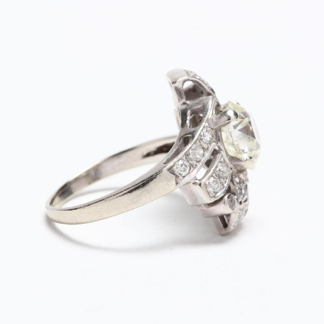 Unmounted Old European Cut Diamond with 14KT White Gold - 5