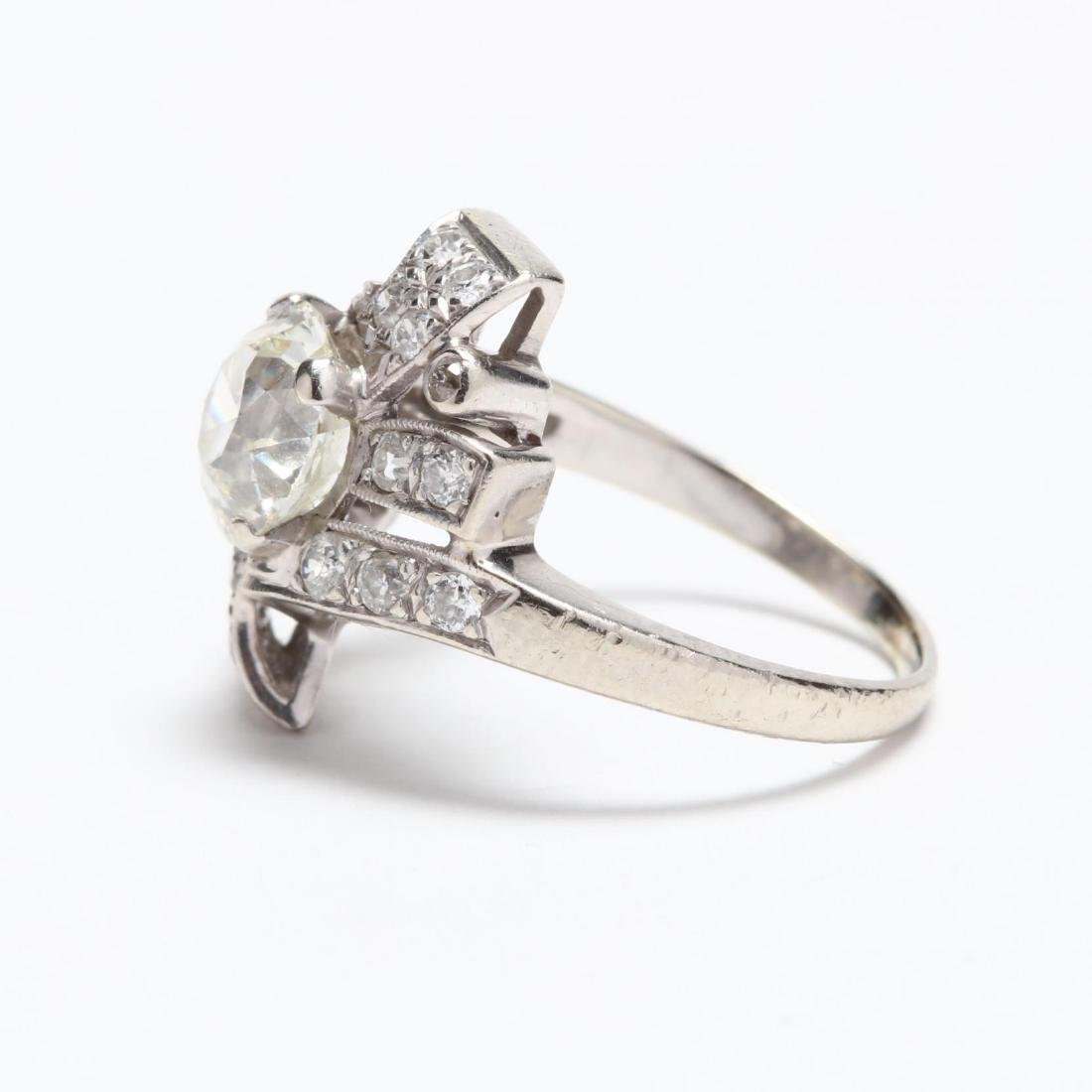 Unmounted Old European Cut Diamond with 14KT White Gold - 7
