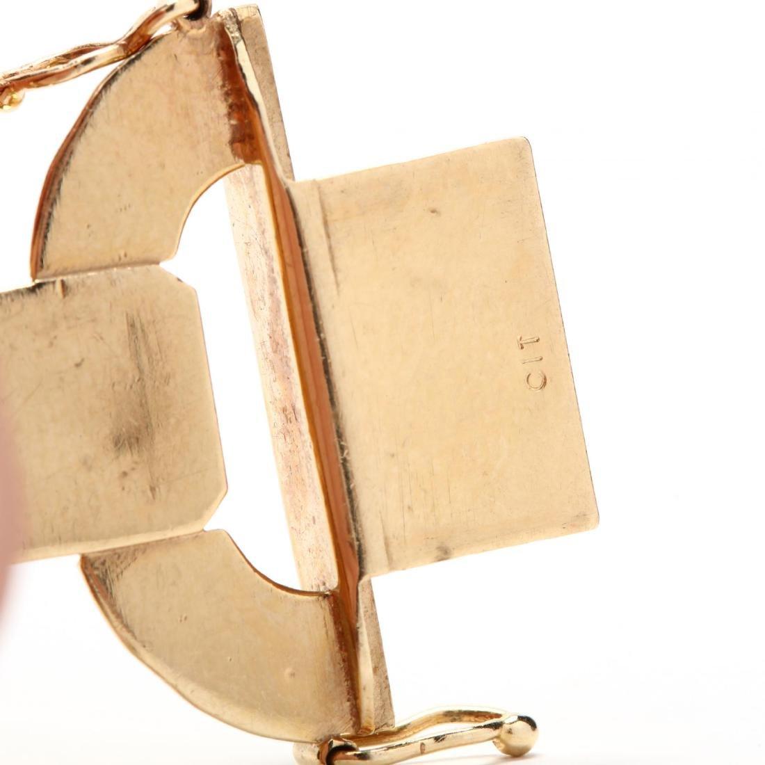 14KT Gold Bracelet and Earrings, Italy - 4