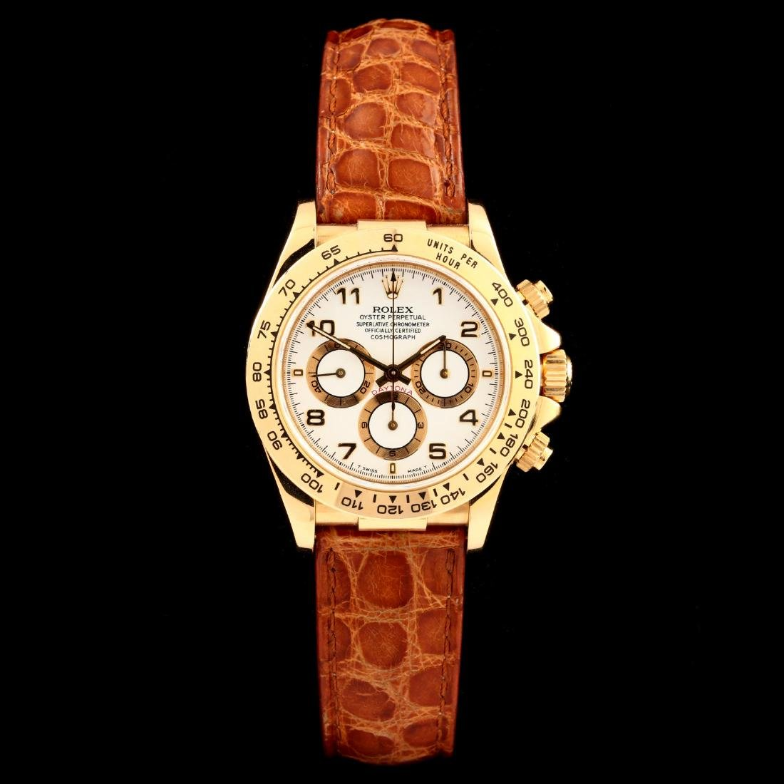 """Gent's 18KT """"Cosmograph Daytona"""" Watch and Strap Bands,"""