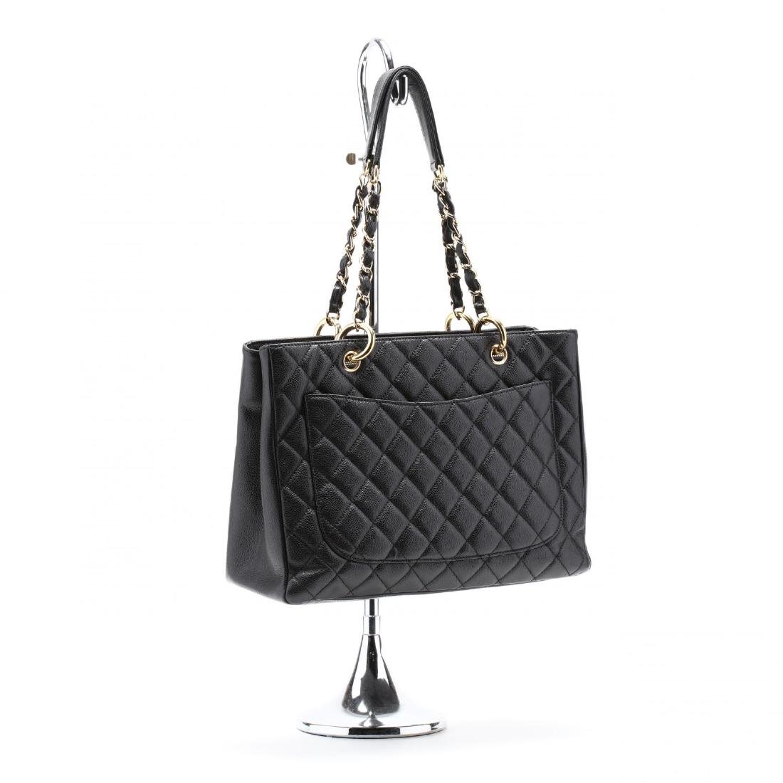 Quilted Black Caviar Leather Grand Shopping Tote - 2