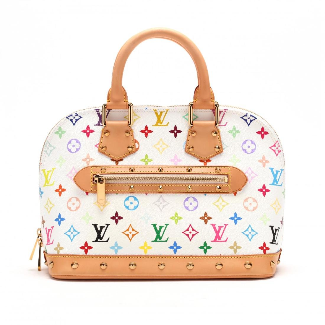 White Multicolore  Alma,  Handbag, Louis Vuitton