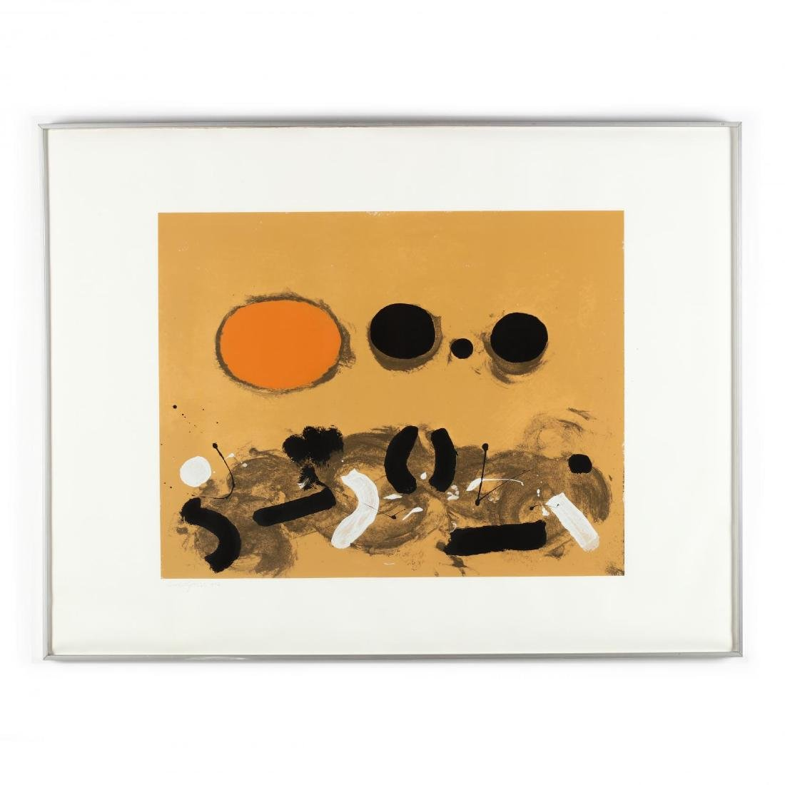 Adolph Gottlieb (American, 1903-1974),  Orange Oval