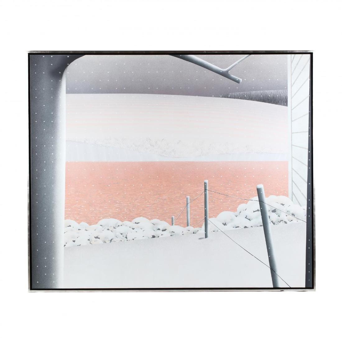 Maud Gatewood (NC, 1934-2004),  Farm Pond - Snow Ending