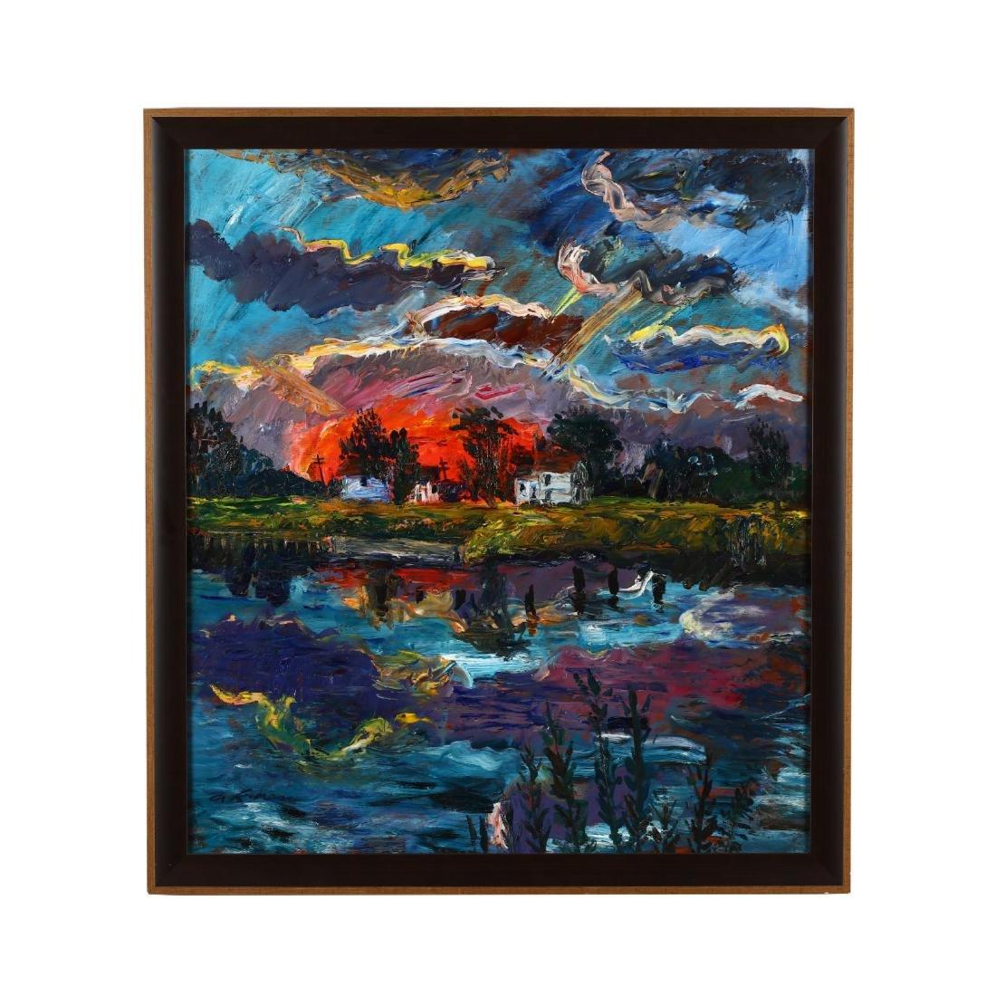 Kenneth Ness (1903-2001),  Sunrise Across the River