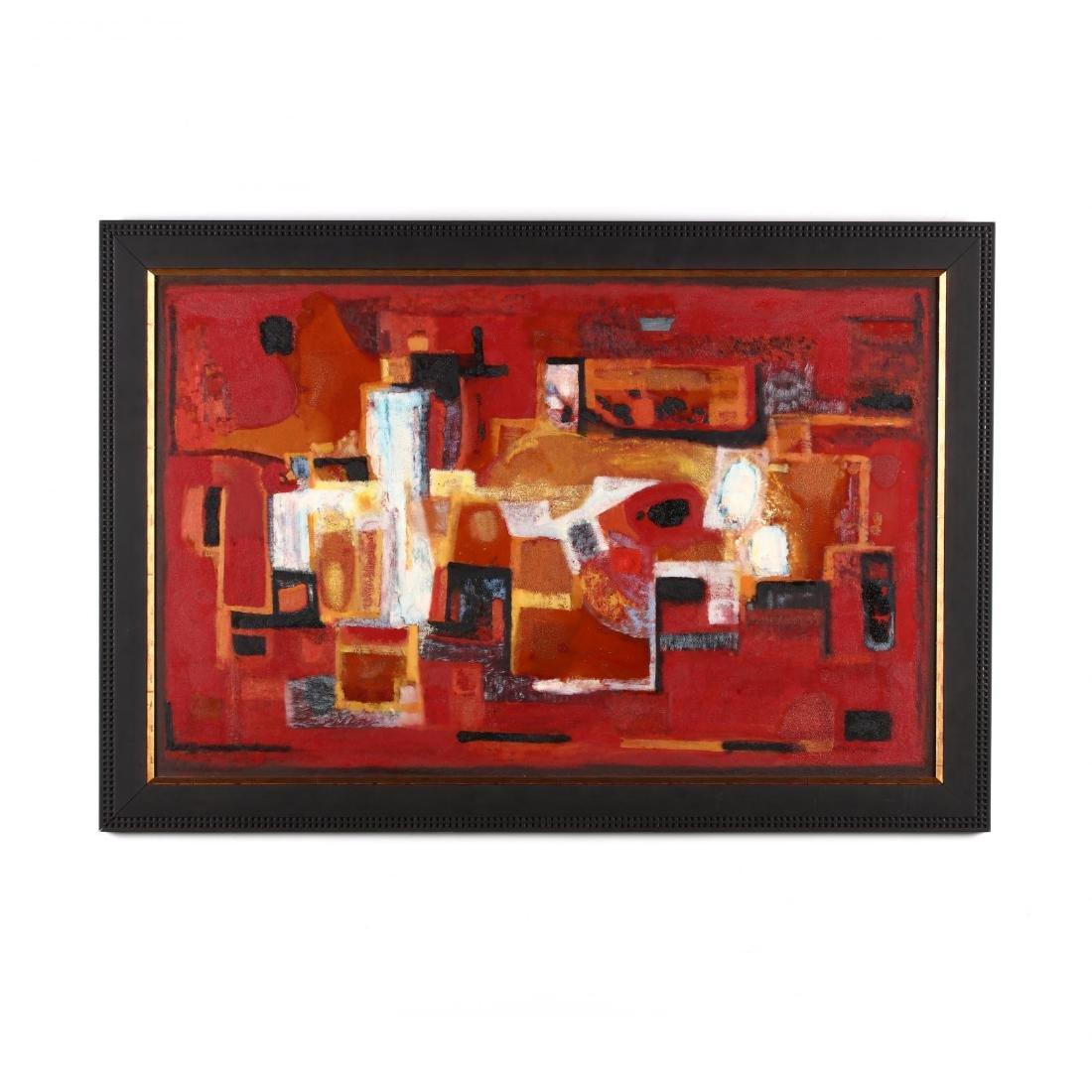 Philip Moose (NC, 1921-2001), Still Life Abstract