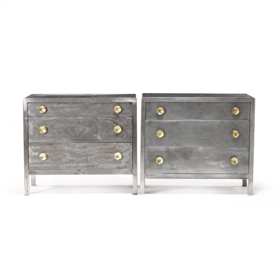 Norman Bel Geddes, Pair of Industrial Metal Chests