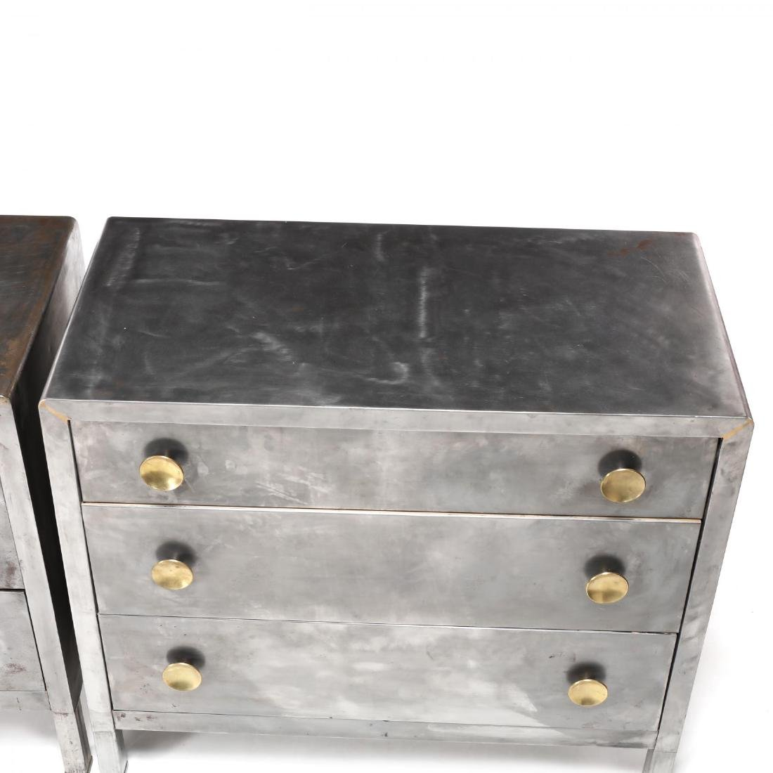Norman Bel Geddes, Pair of Industrial Metal Chests - 2