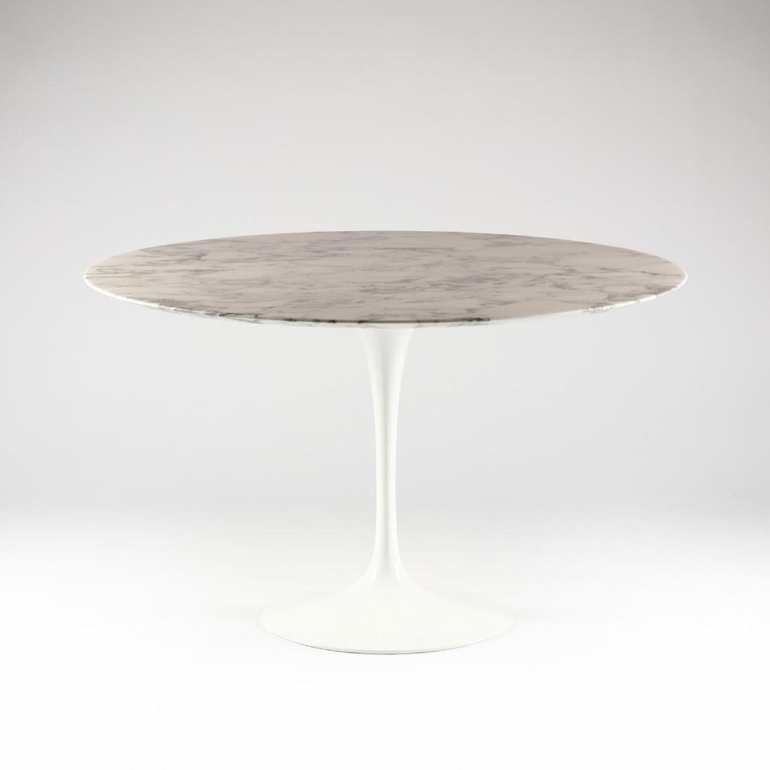 Eero Saarinen, Round Marble Top  Tulip Table