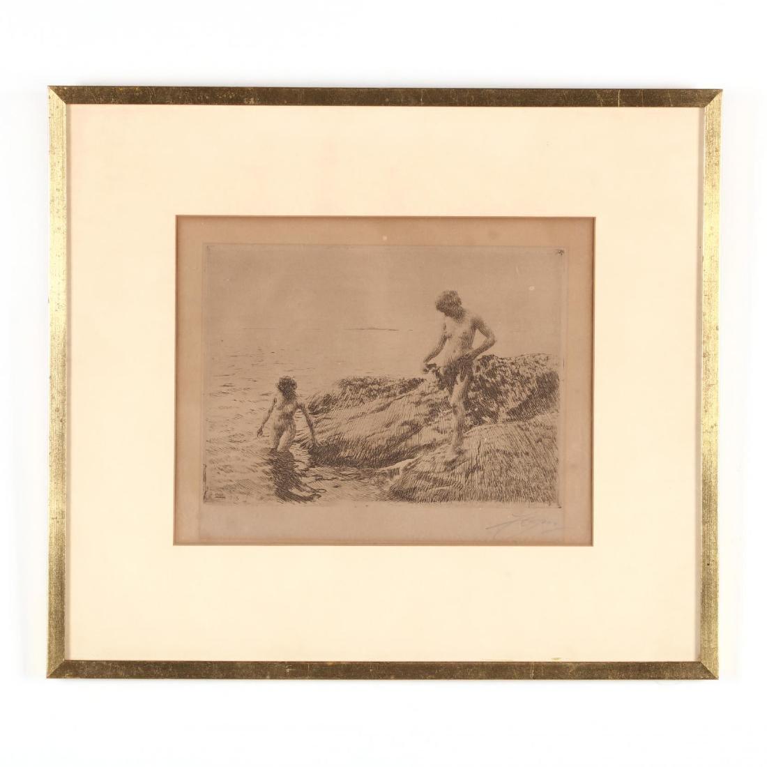Anders Zorn (Swedish, 1860-1920),  Seaward Skerries