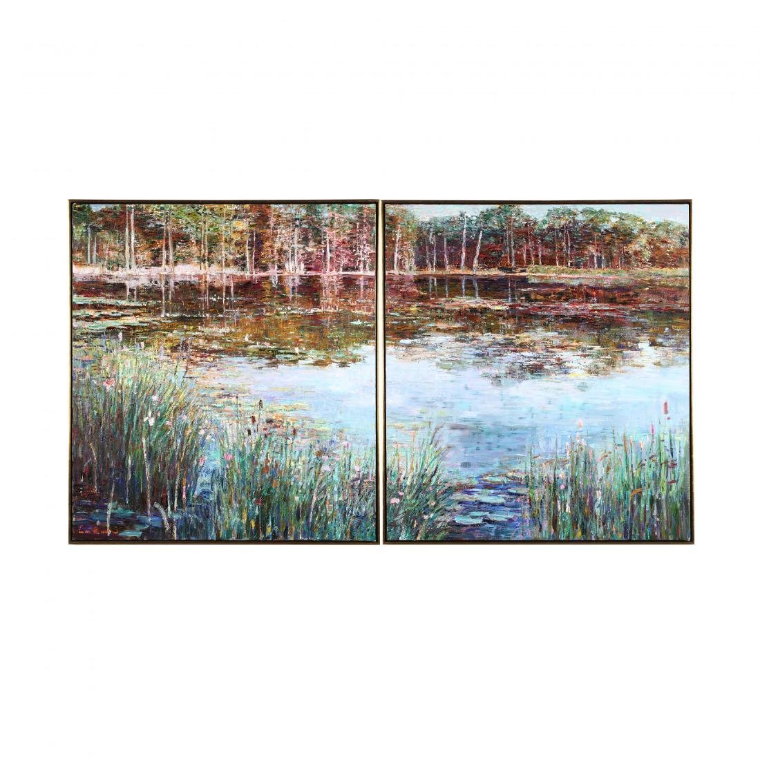 Lau Chun (Chinese/American, b. 1942), Pond's Edge -