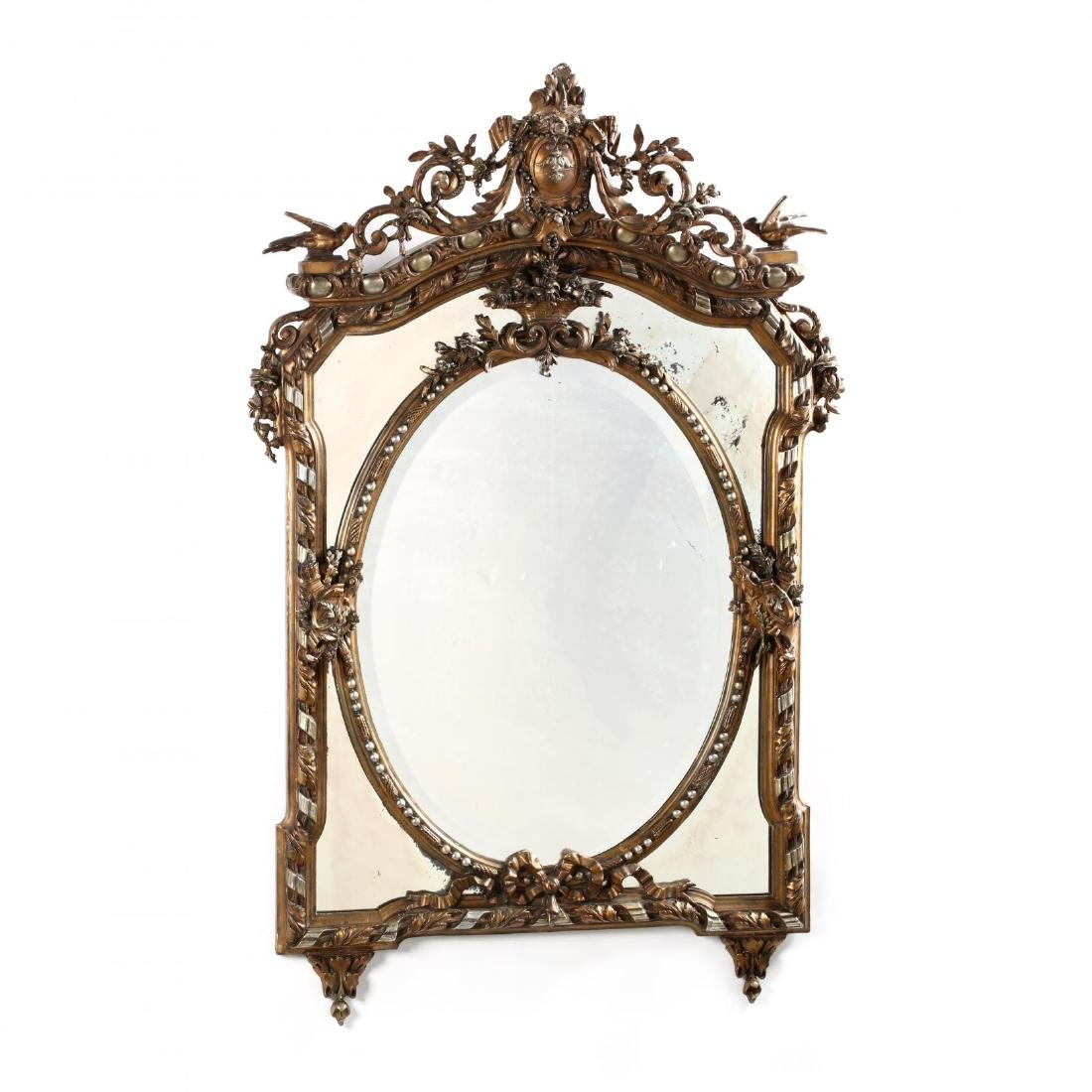 Louis XV Style Carved and Gilt Mirror