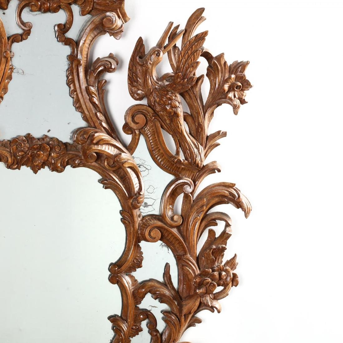 Pair of Italian Rococo Style Carved Wood Mirrors - 8