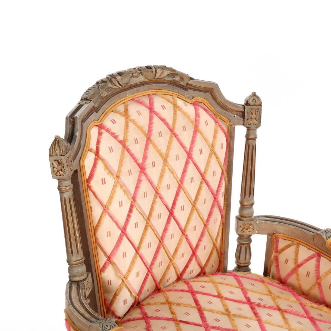 Pair of Louis XVI Style Painted Bergères - 4