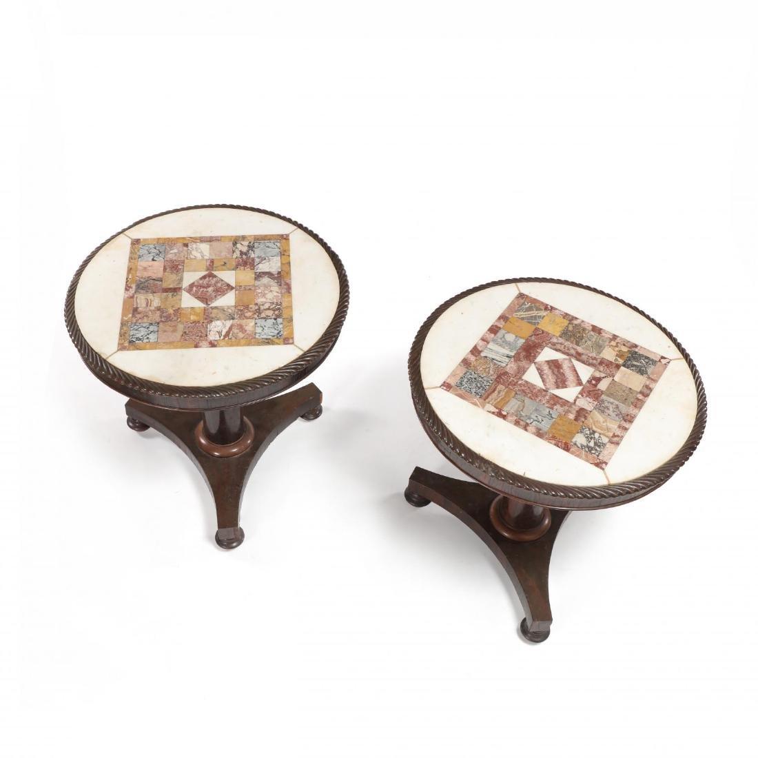 Pair of Neoclassical William IV Specimen Marble Top - 2