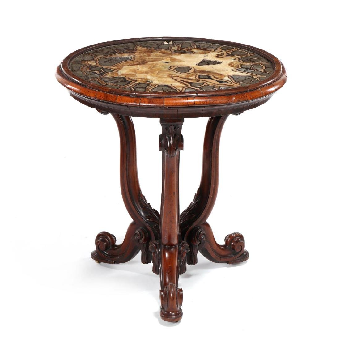 Italian Rococo Revival Specimen Top Parlour Table