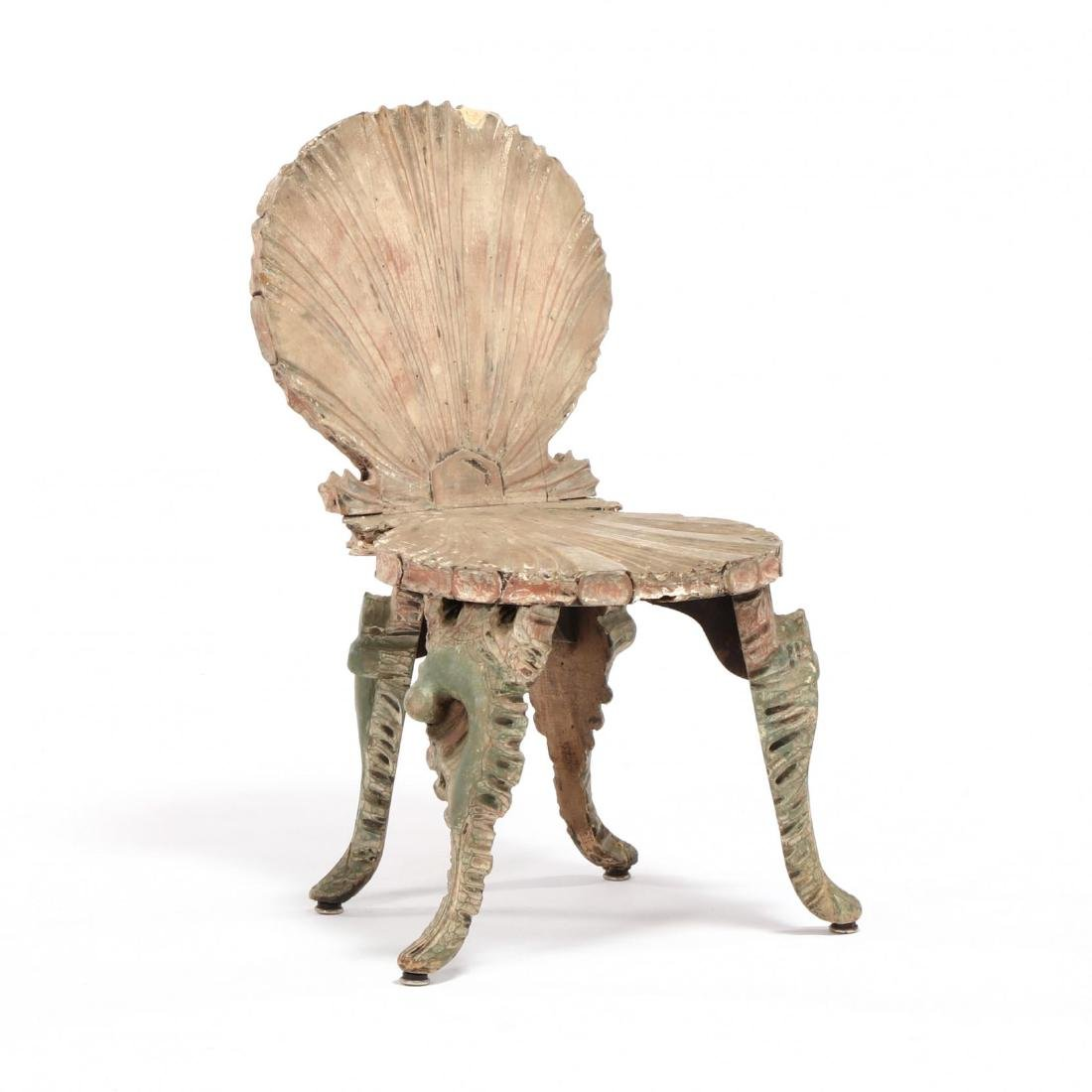 Venetian Carved Grotto Side Chair