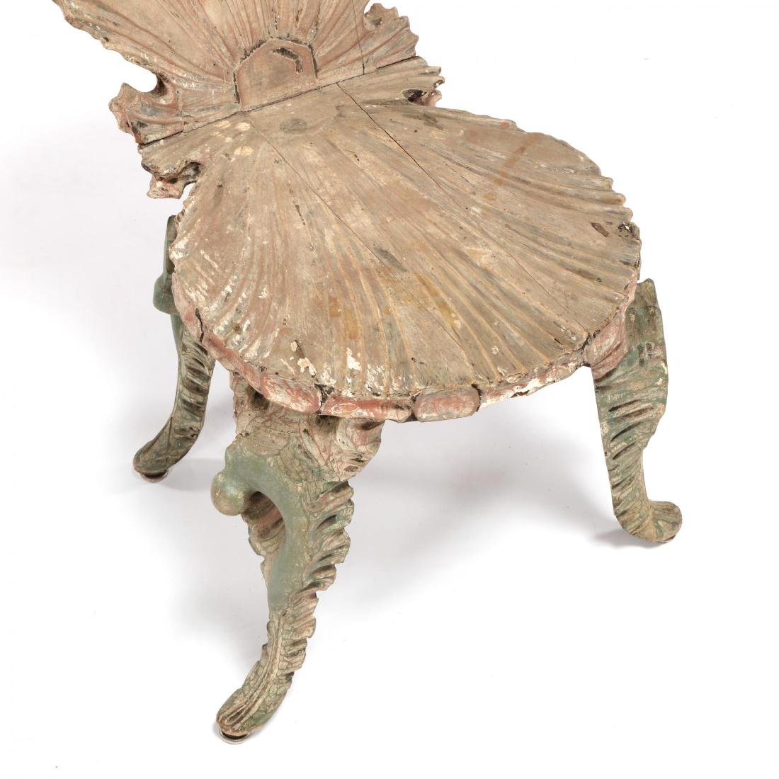 Venetian Carved Grotto Side Chair - 2