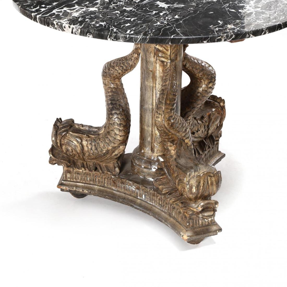 Continental Classical Carved and Gilded Marble Top - 3