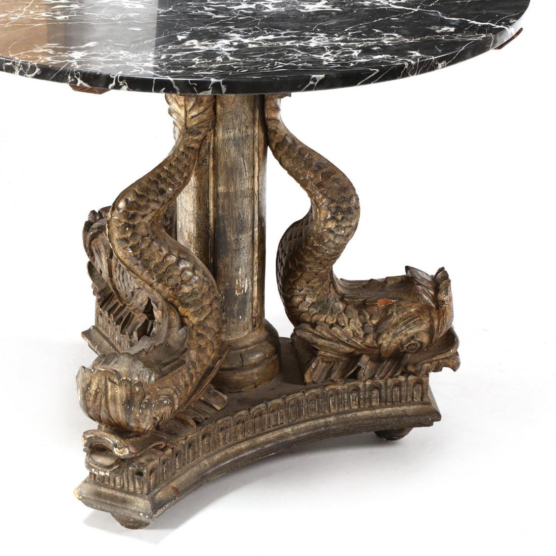 Continental Classical Carved and Gilded Marble Top - 4