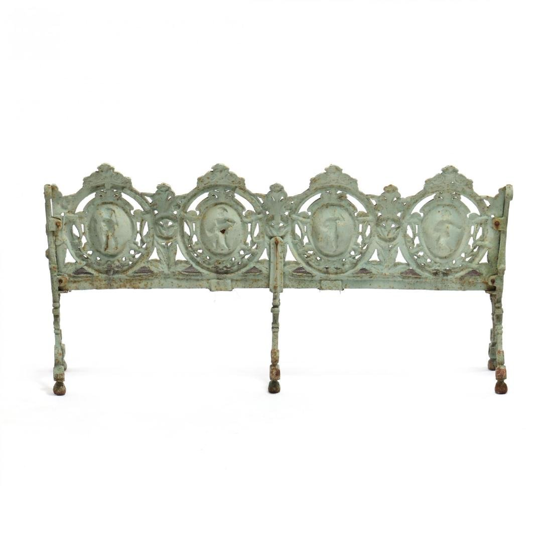 Pair of Renaissance Revival Cast Iron Garden Benches - 8