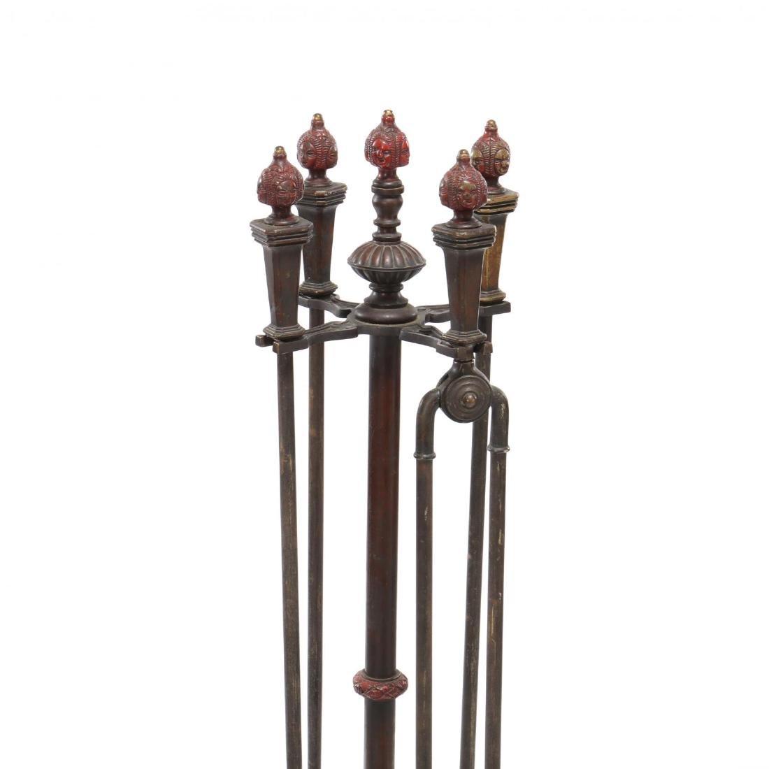 Spanish Renaissance Revival Cast Bronze Fireplace Tool - 3