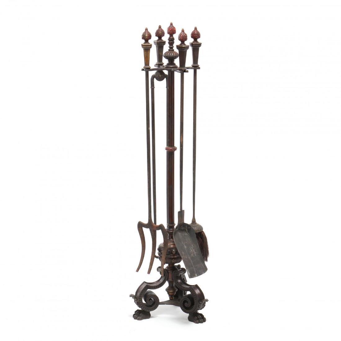 Spanish Renaissance Revival Cast Bronze Fireplace Tool - 4