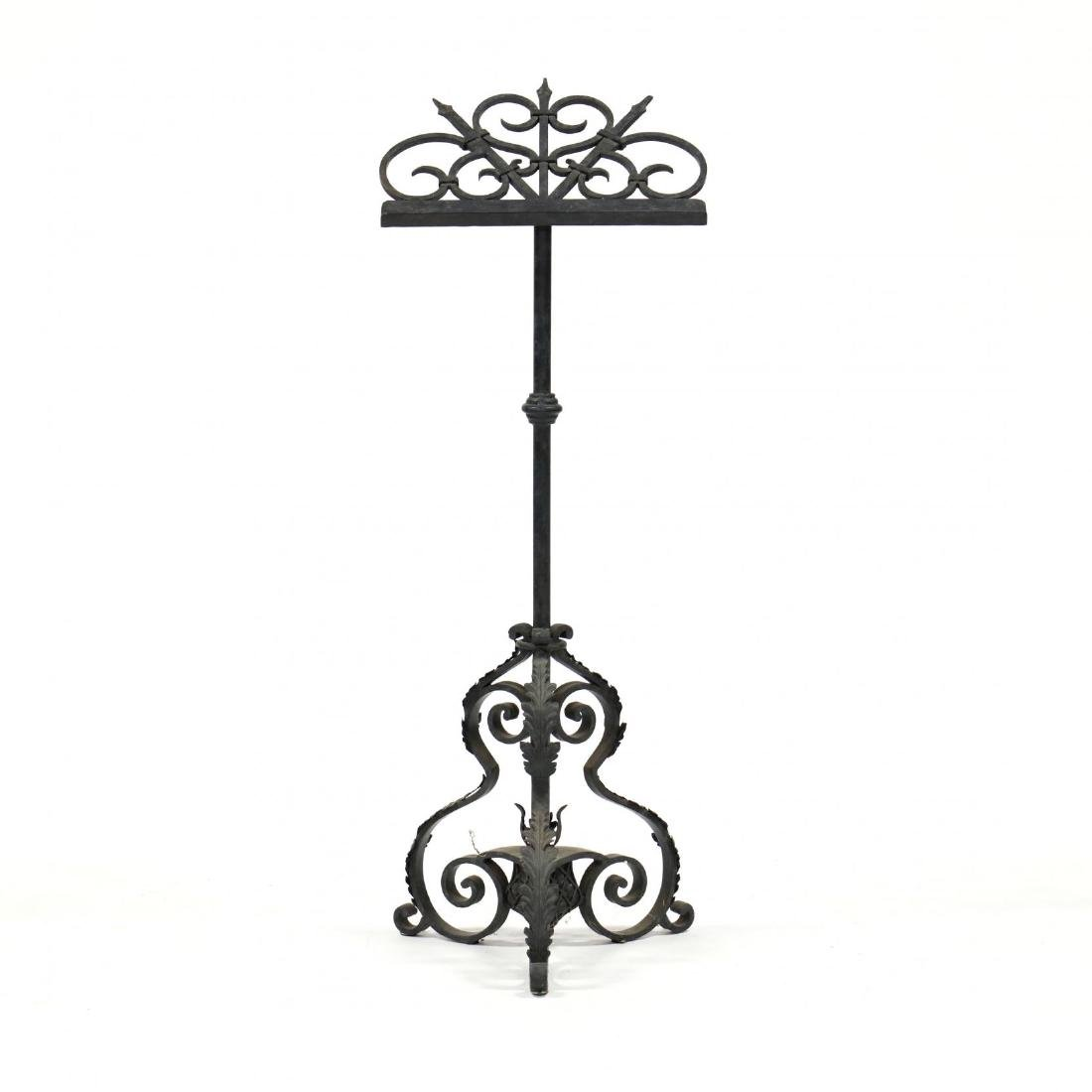 Spanish Classical Wrought Iron Lectern