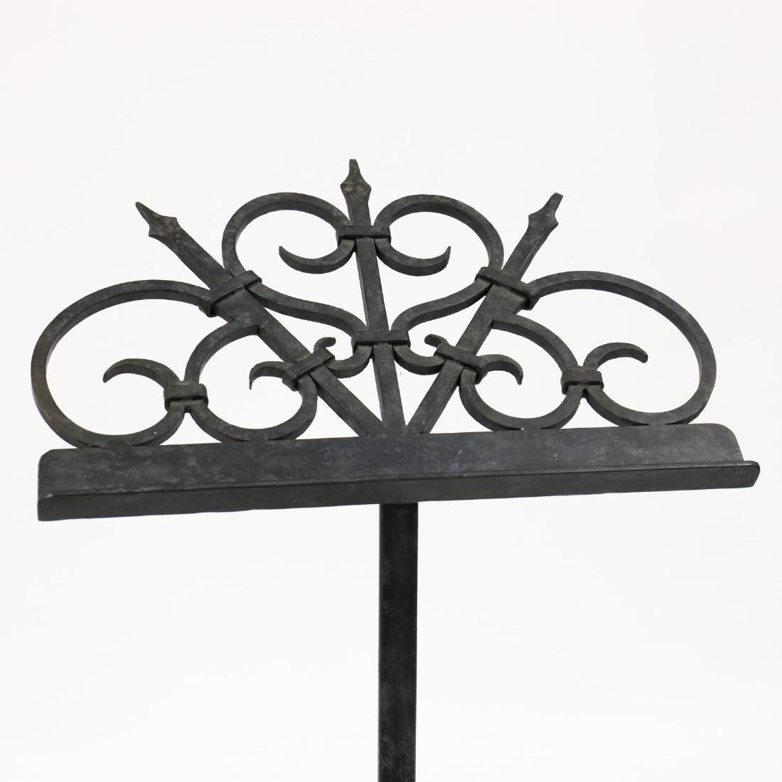 Spanish Classical Wrought Iron Lectern - 3