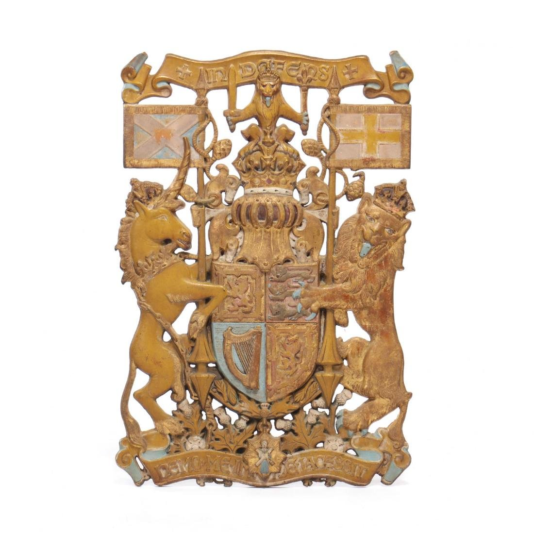 Cast Iron British Royal Warrant With Monarch's