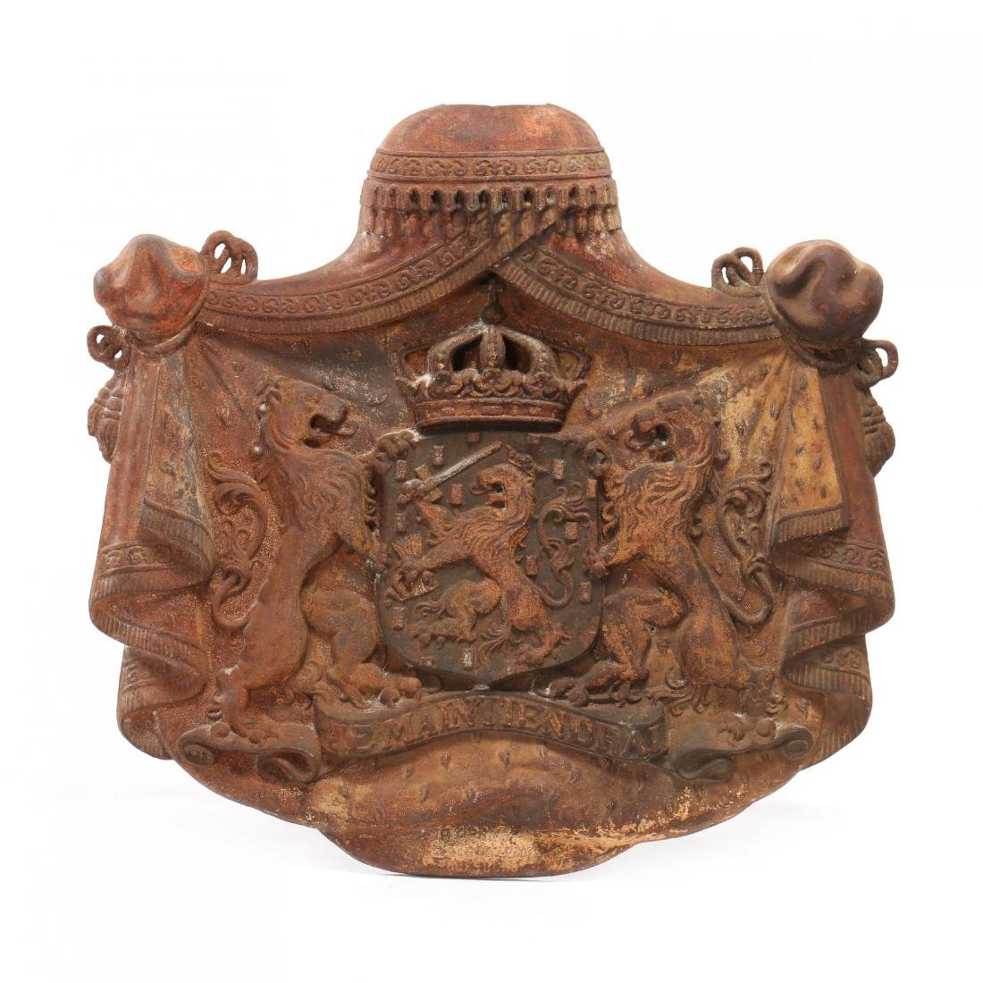 Cast Iron Coat-of-Arms of the Kingdom of The