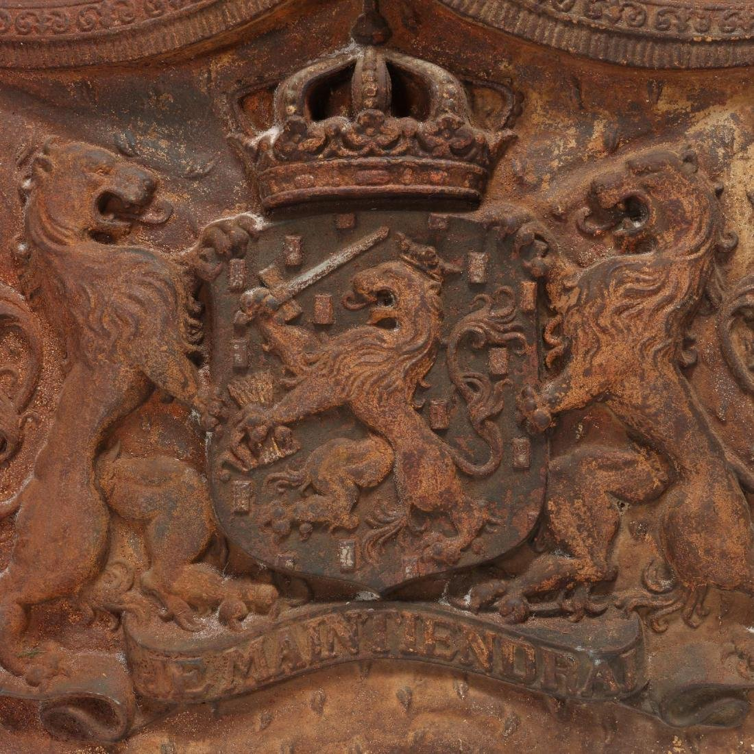 Cast Iron Coat-of-Arms of the Kingdom of The - 2