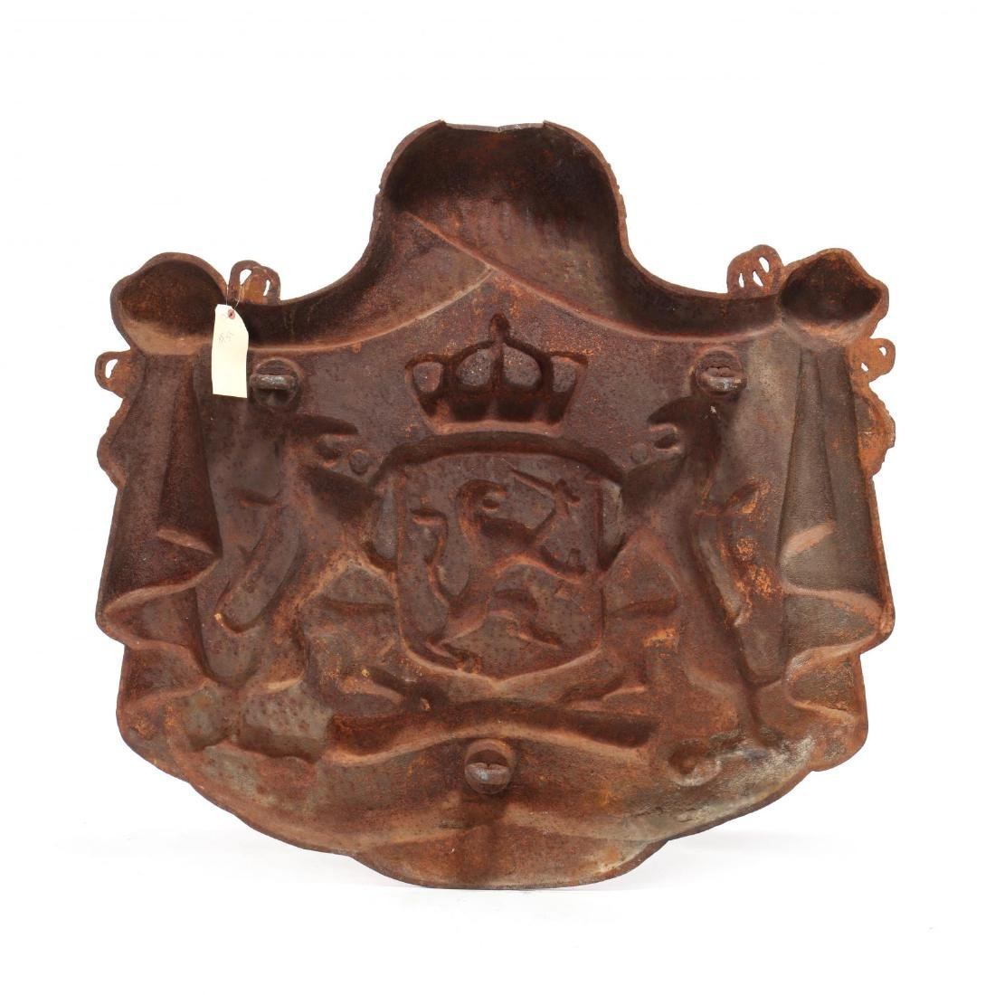 Cast Iron Coat-of-Arms of the Kingdom of The - 5