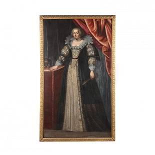 Continental School, 17th Century Portrait of a