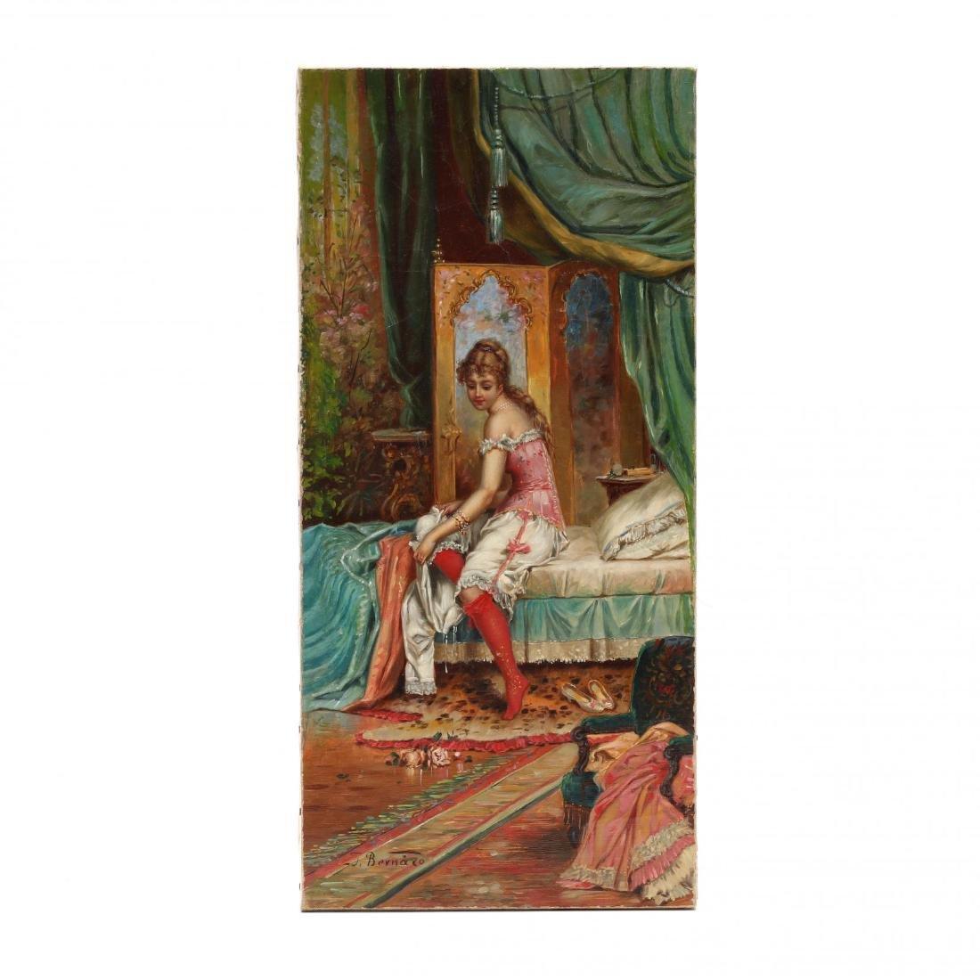 Hans Zatzka (Austrian, 1859-1945), Boudoir Scene