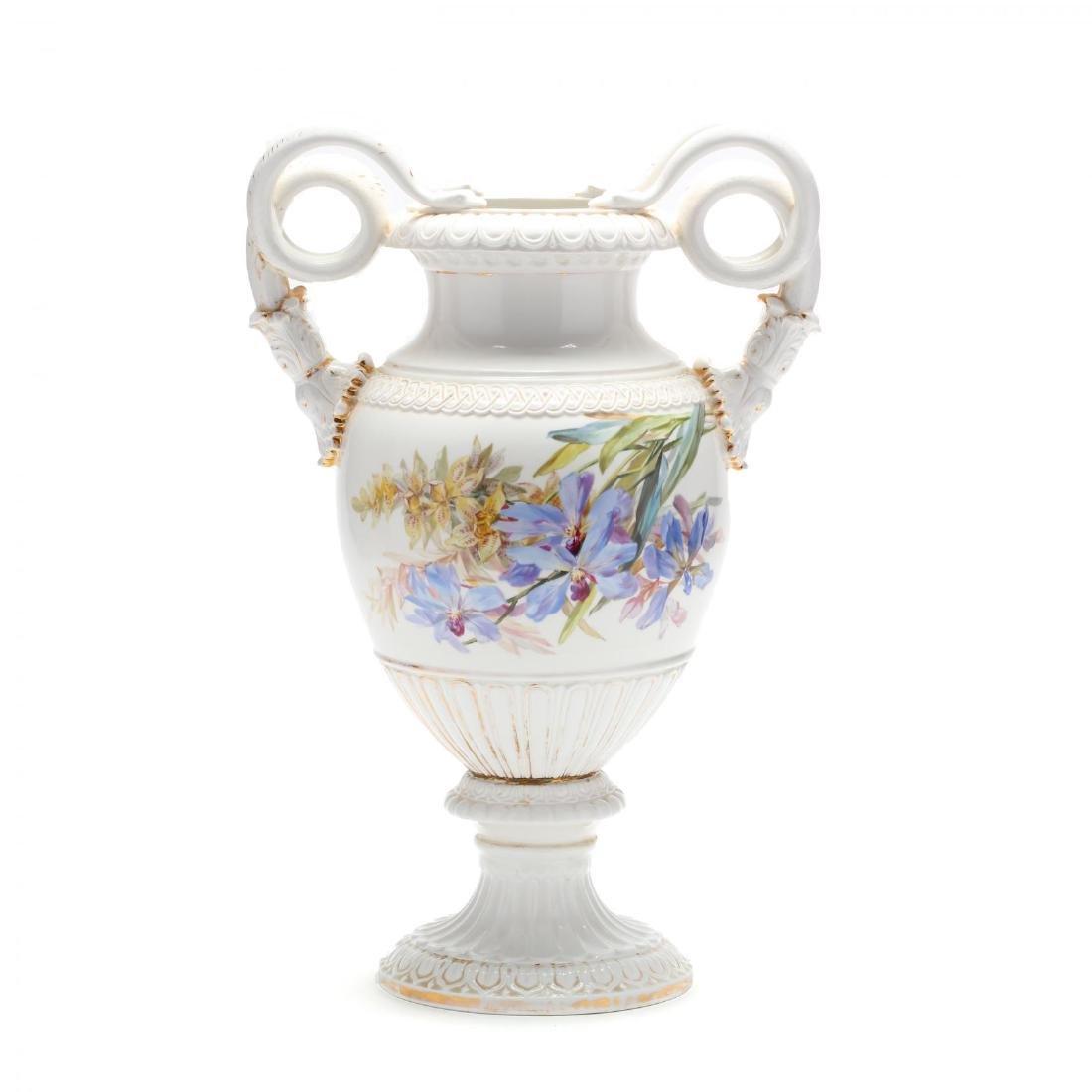 A Meissen Gilt Decorated Porcelain Vase