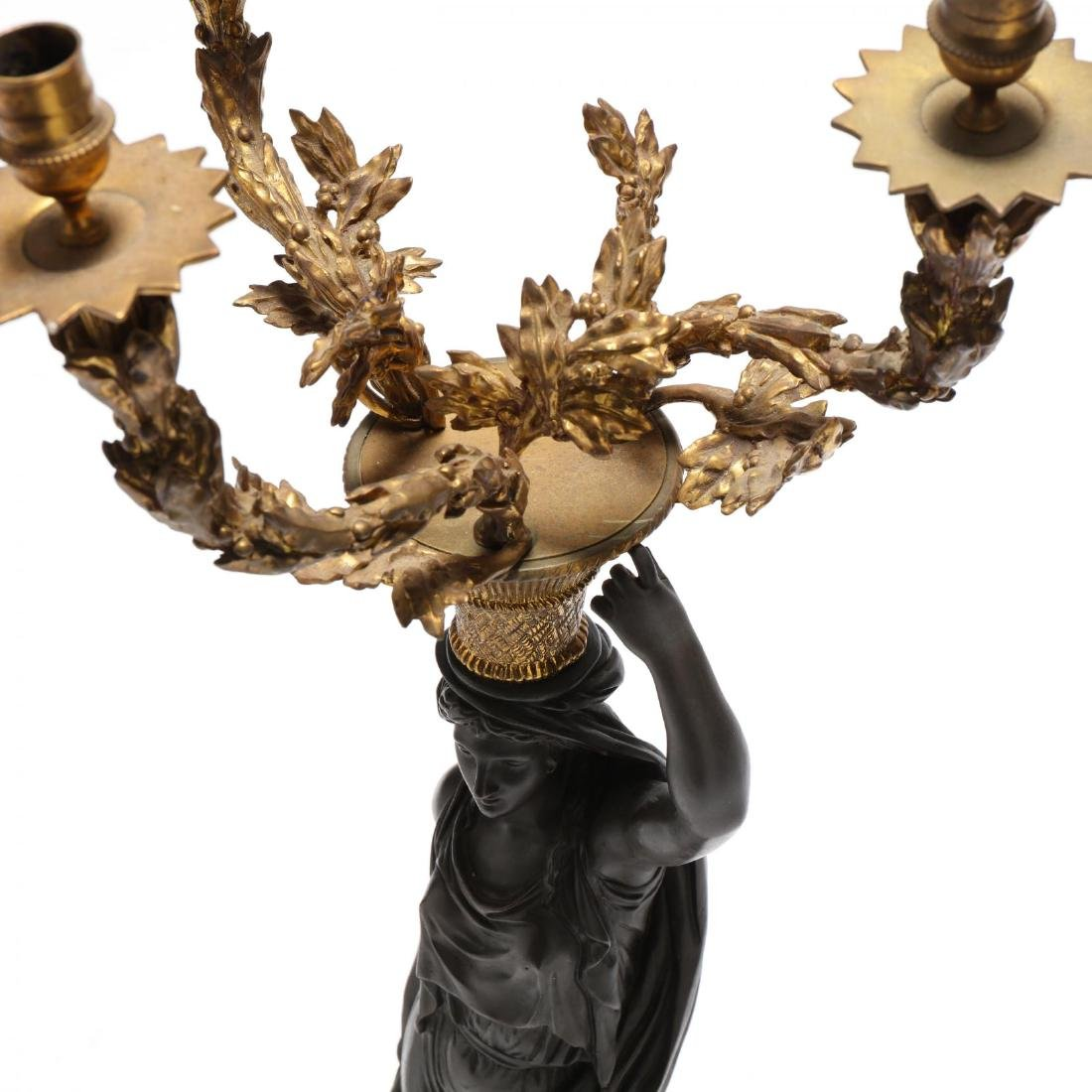 A Pair of Neoclassical Style Figural Candelabra - 3