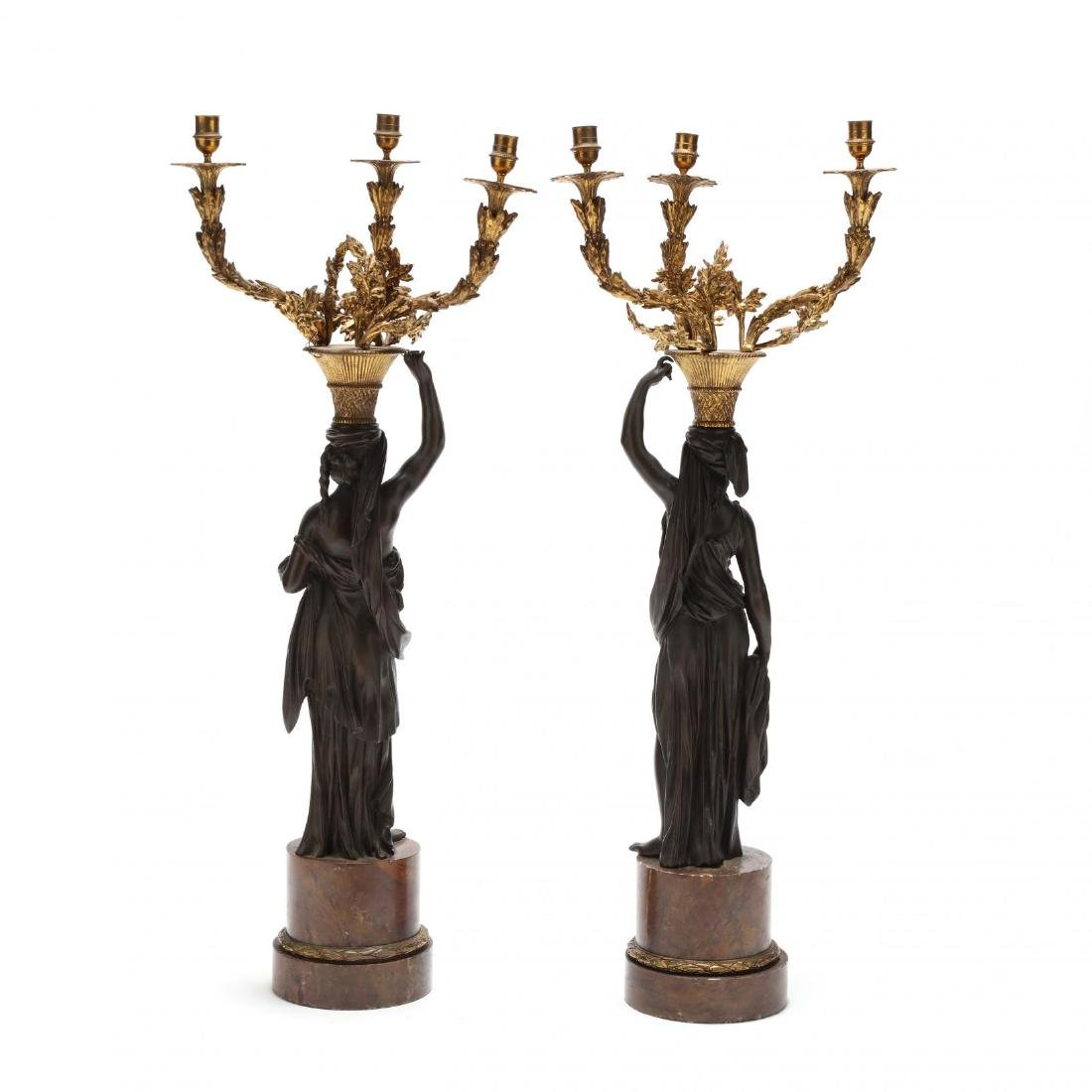 A Pair of Neoclassical Style Figural Candelabra - 4