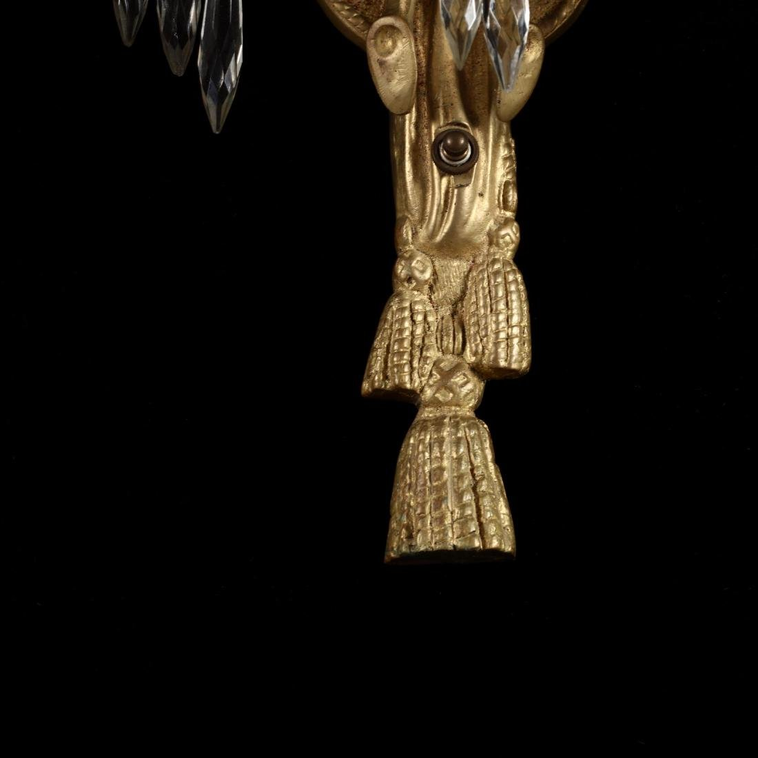 Italian Classical Style Gilt Palm Chandelier and - 3