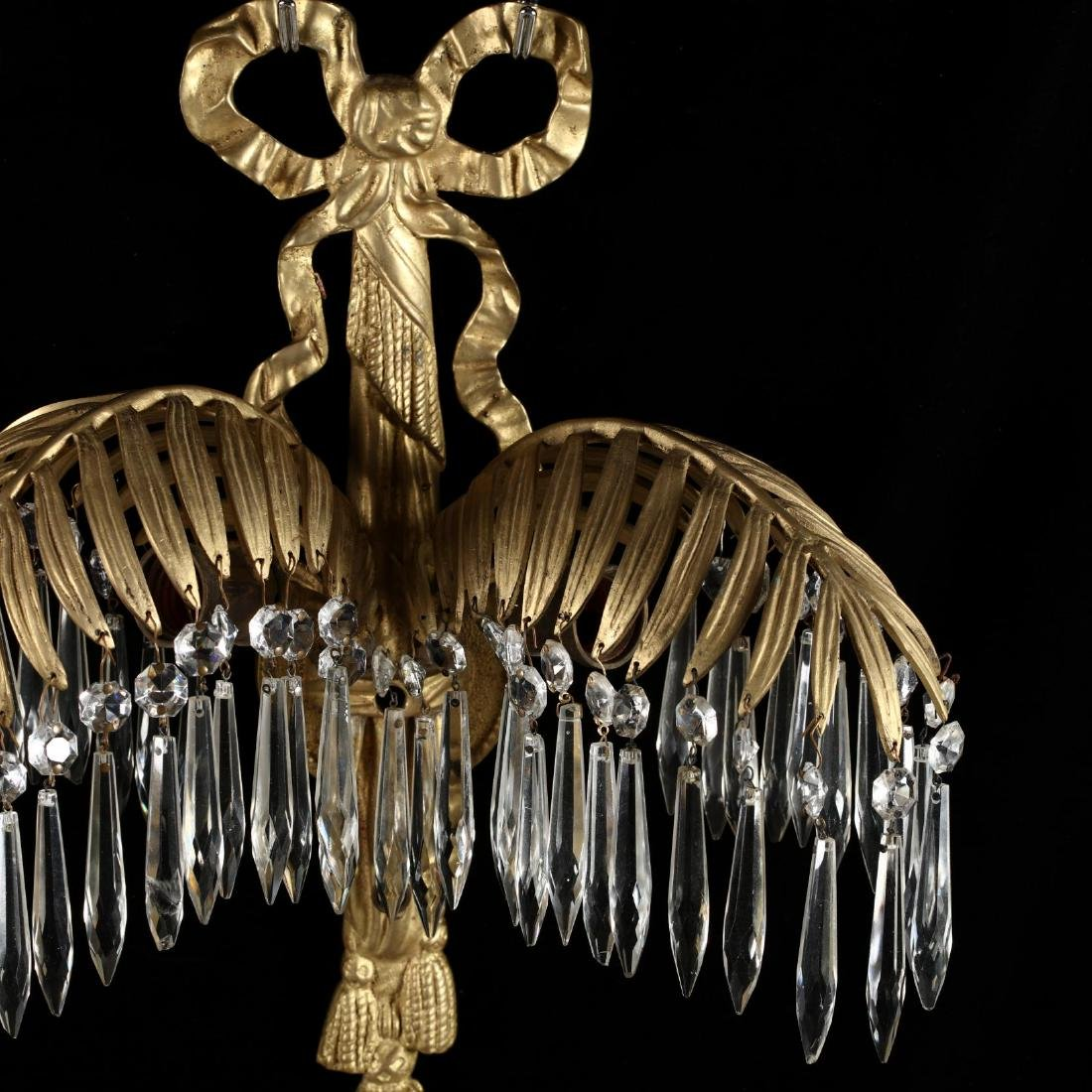 Italian Classical Style Gilt Palm Chandelier and - 4