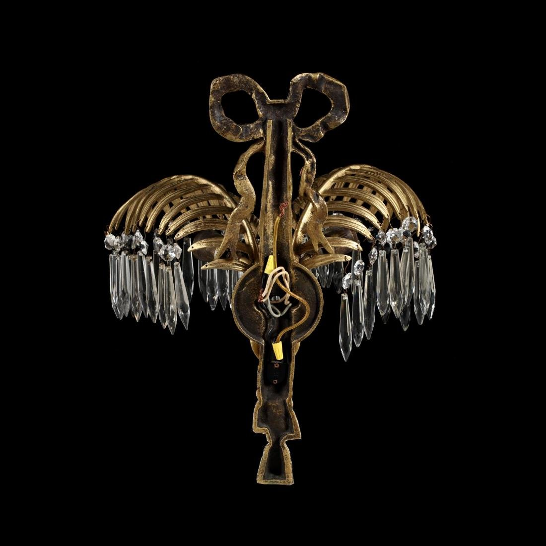 Italian Classical Style Gilt Palm Chandelier and - 6